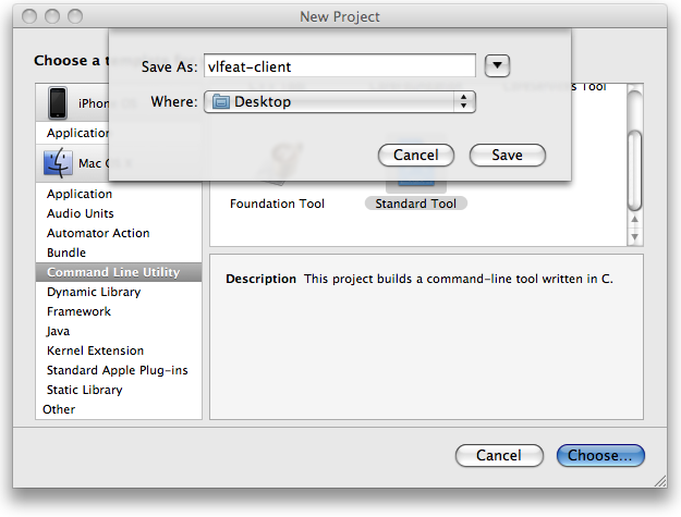Xcode new project